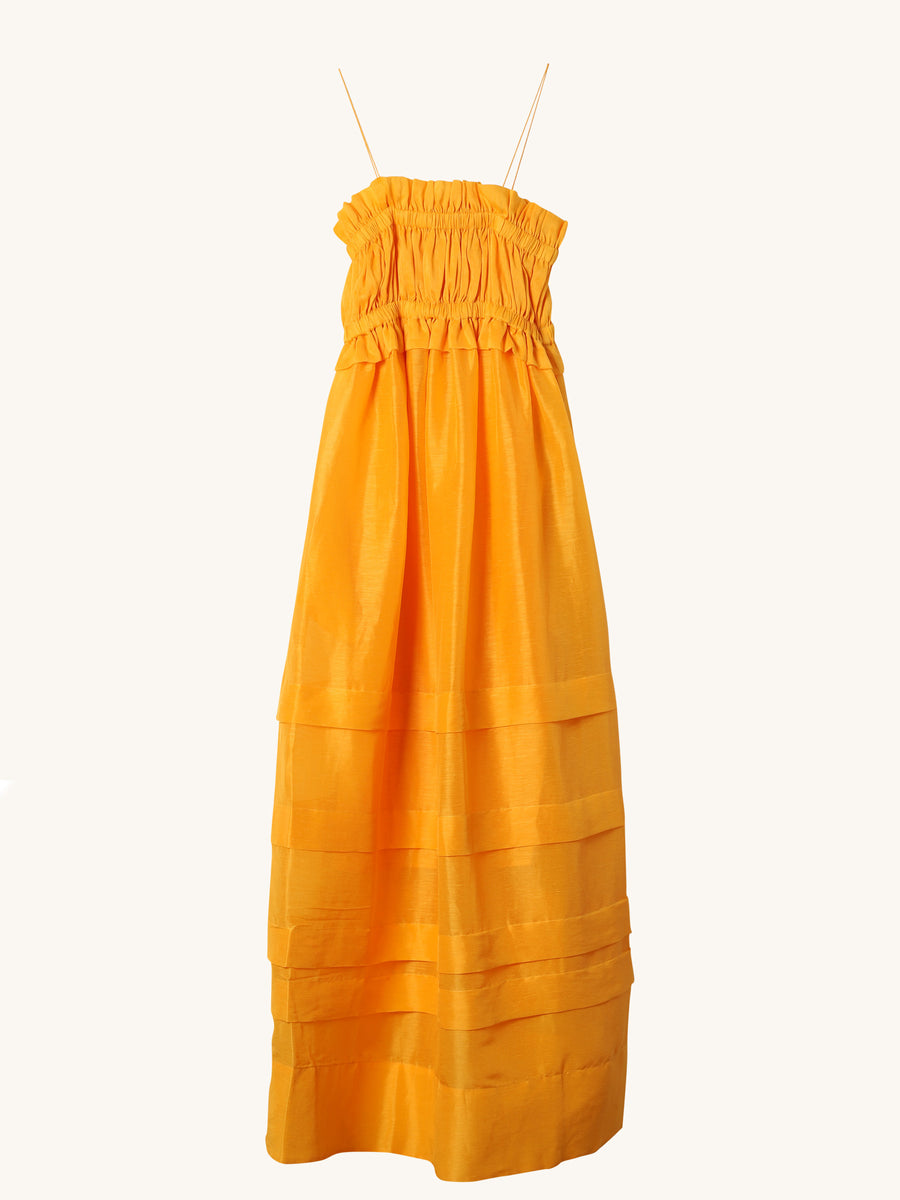 Canary Gathered Maxi