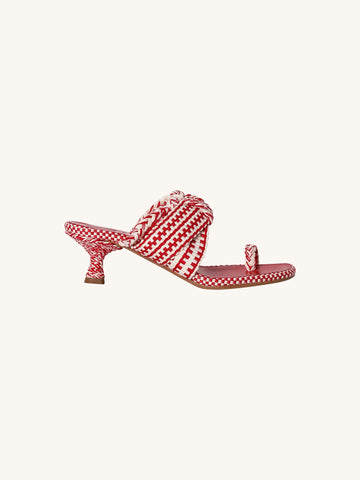 Braided Slip On in Red