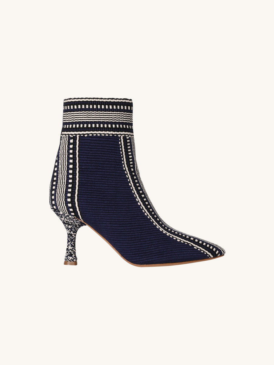Debbie Point Toe Bootie in Navy