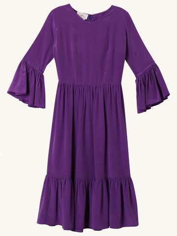 Purple Pia Midi Dress