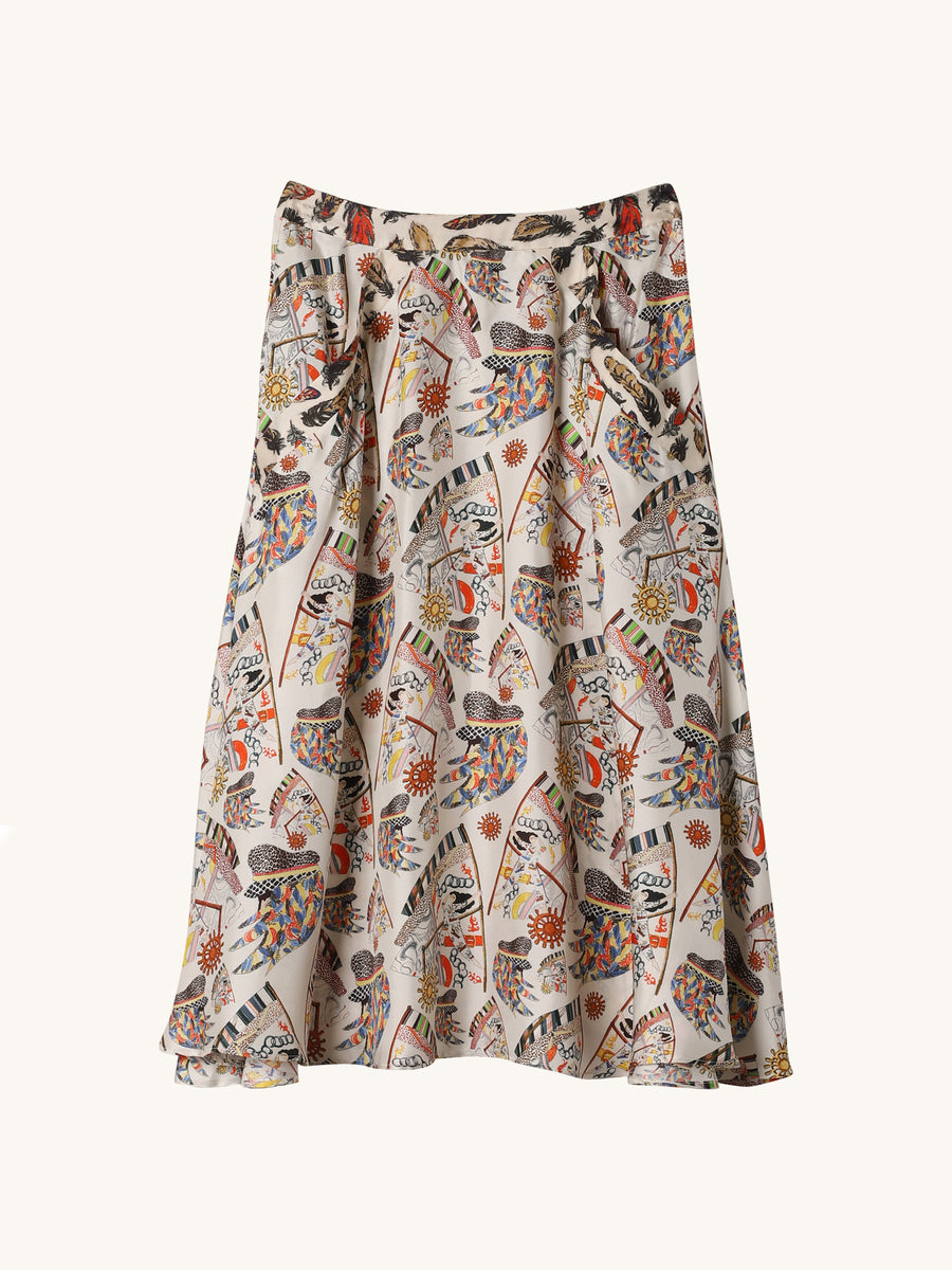Burty Printed Skirt