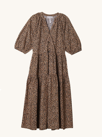 Dier Mitte Leopard Print Dress