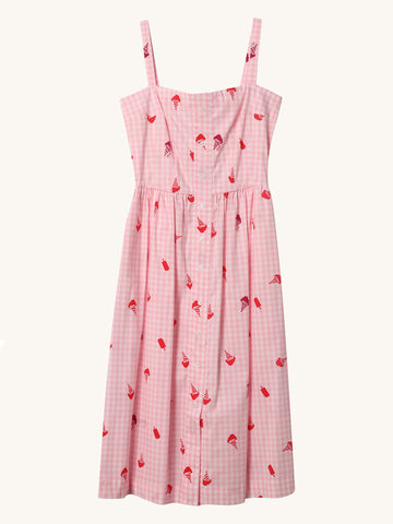 Ice Cream Print Laura Dress
