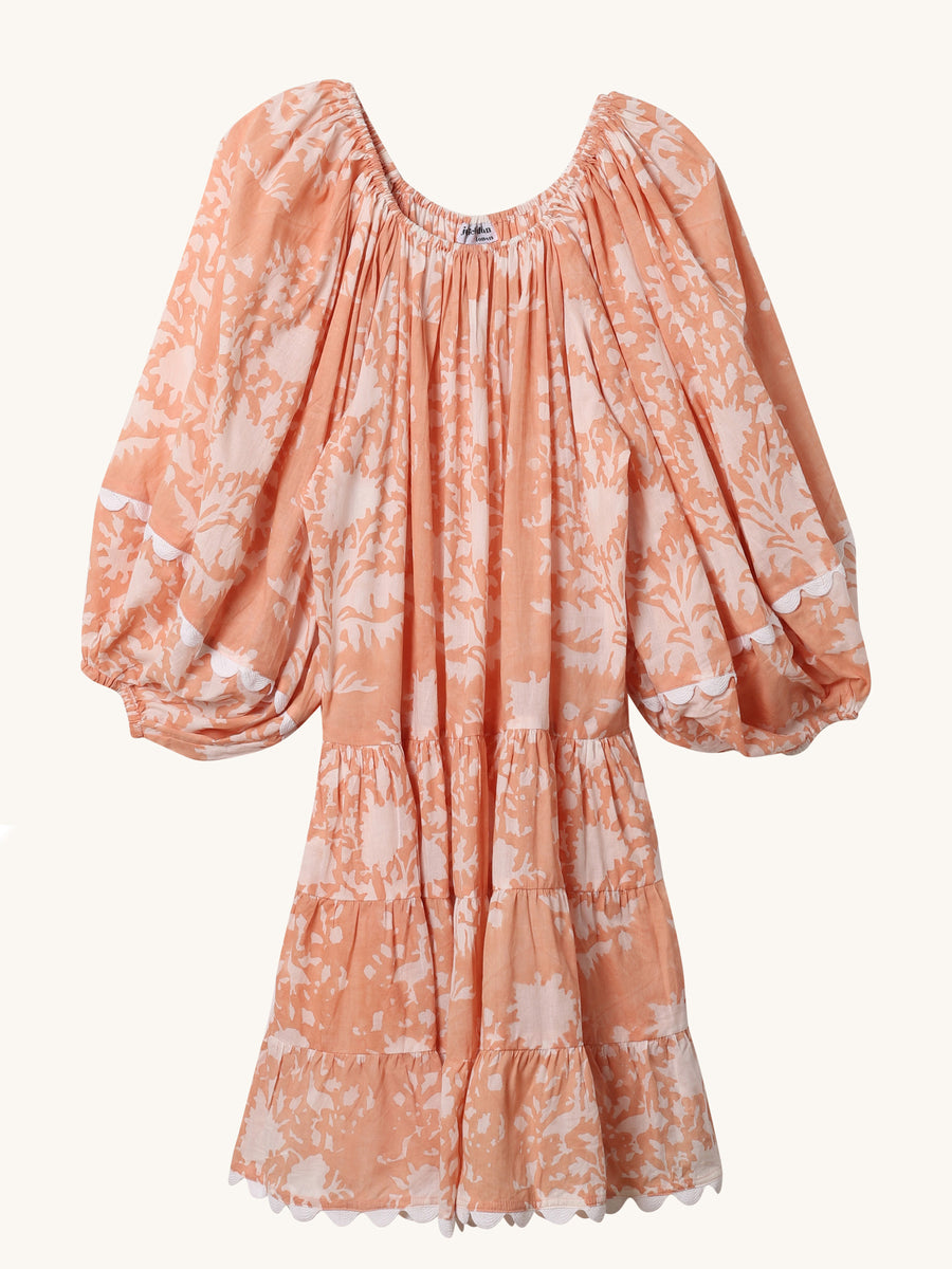 Boho Palladio Dress in Peach