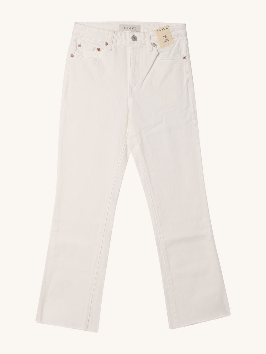 Colette Kick Flare in White