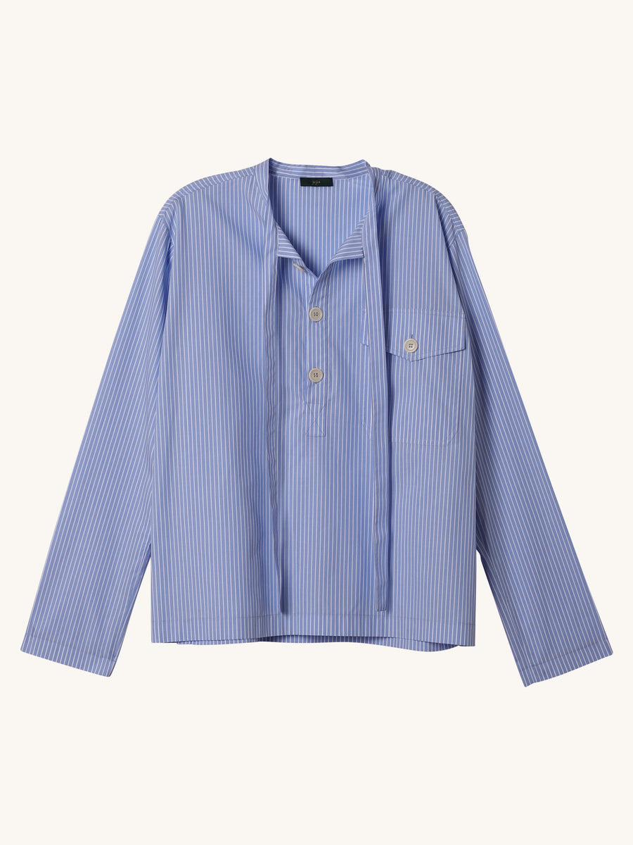 Nak Polo in Sky Blue Stripe