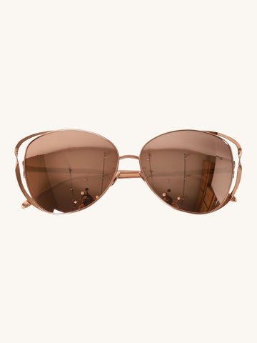 661 C3 Cat Eye Sunglasses in Rose Gold