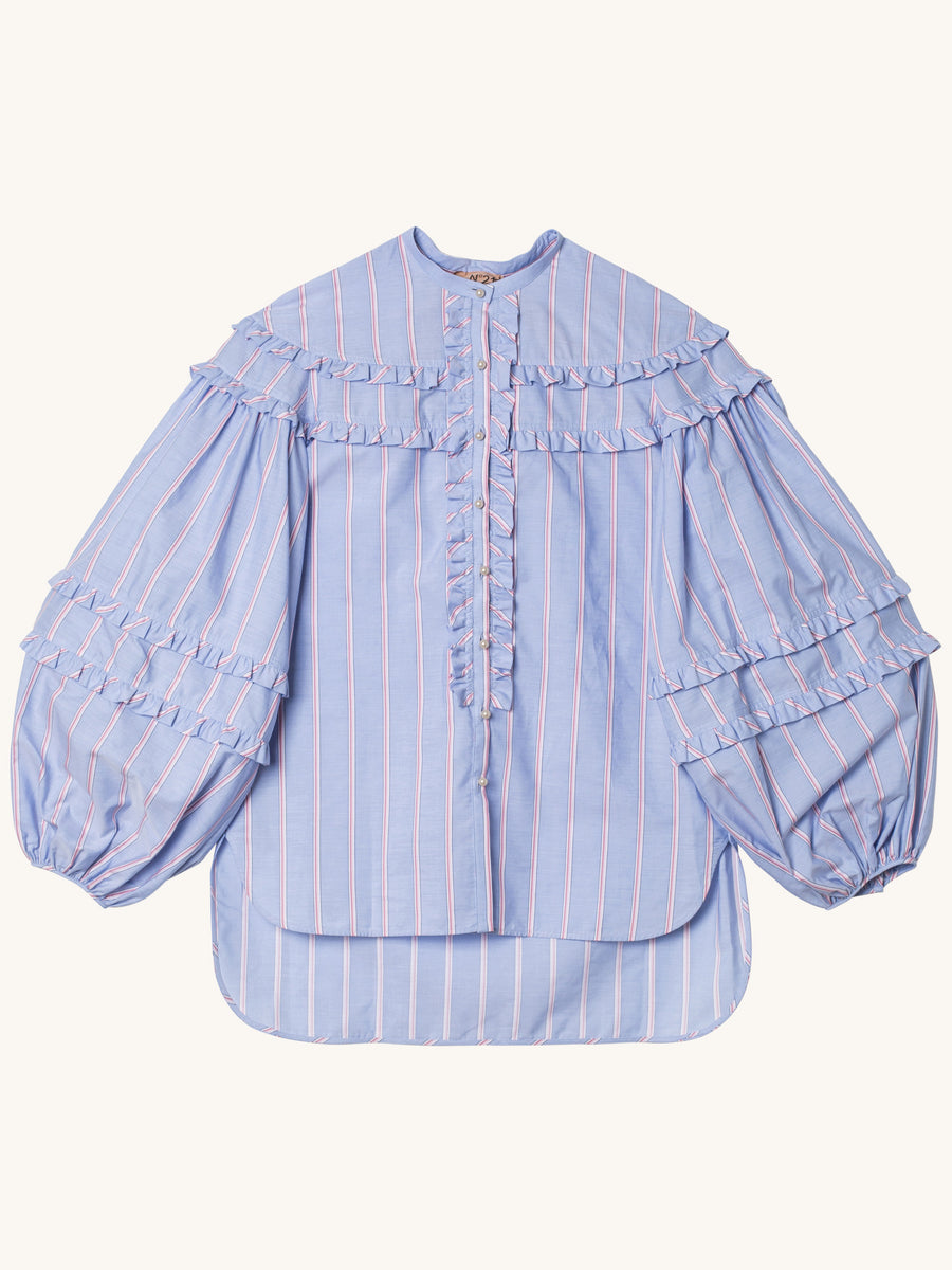Blue Pink White Stripe Shirt