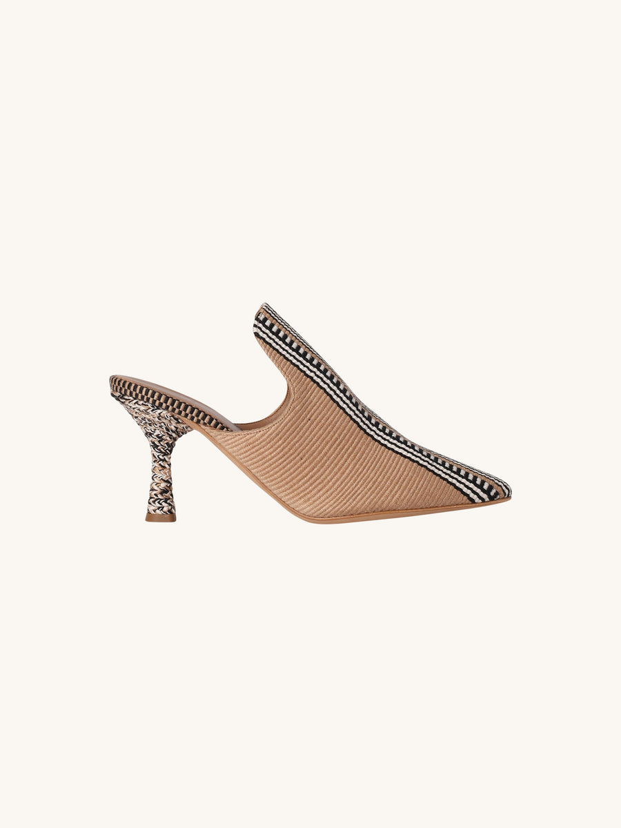 Donata Point Toe Mule in Camel