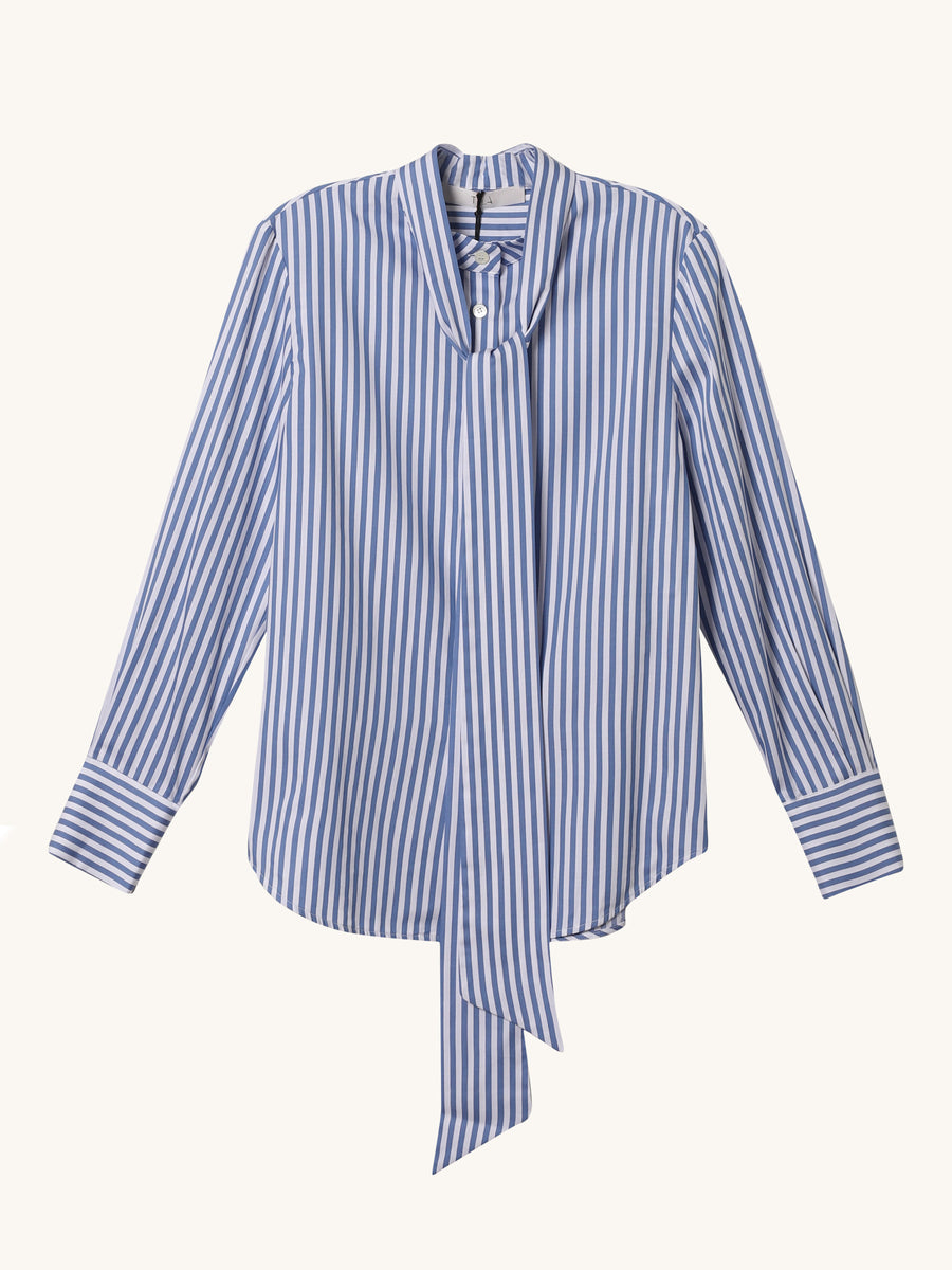 Gheriglio Stripe Top in Blue