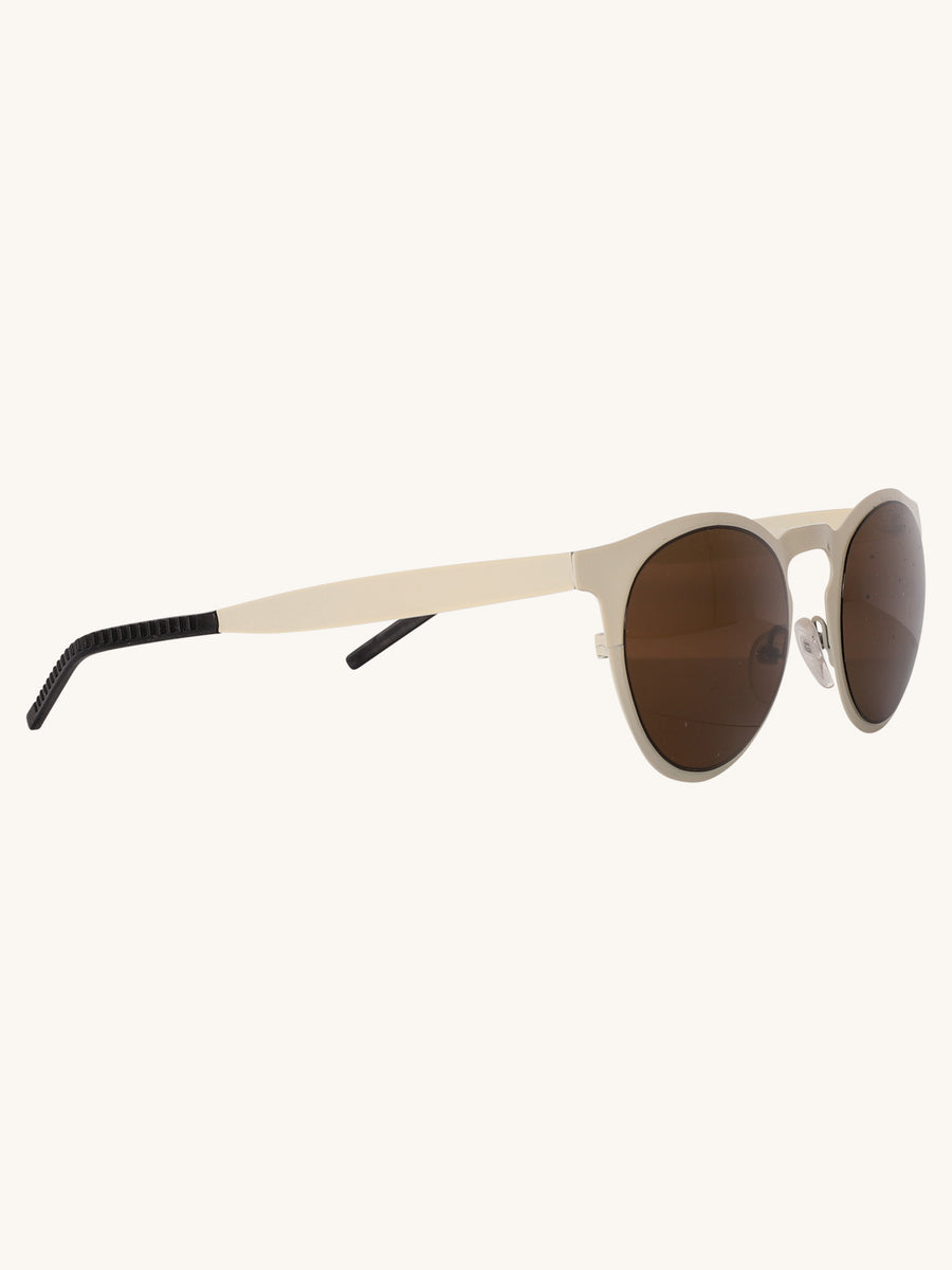 Le Steel Sunglasses in Off White