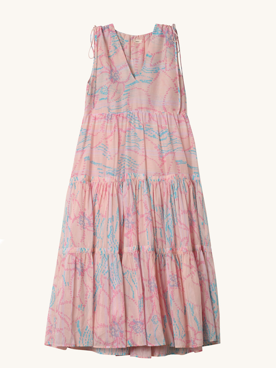 Floral Colony Dress in Peach