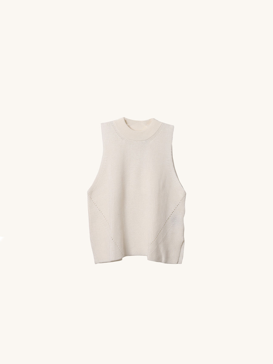 Ellia Knit Tank in Snow