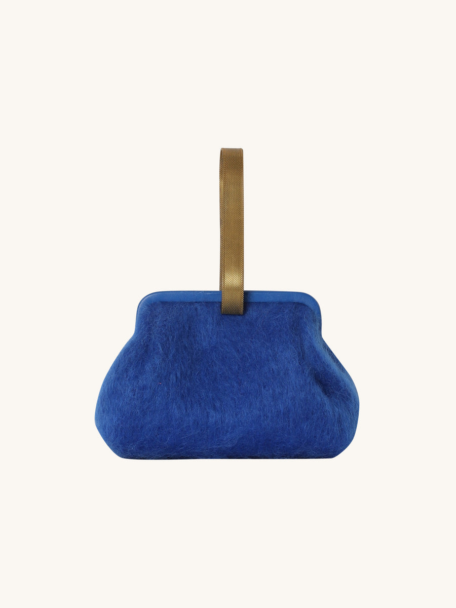 Susan Mohair Clutch in Royal Blue