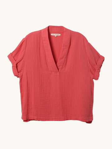 Avery Top in Coral