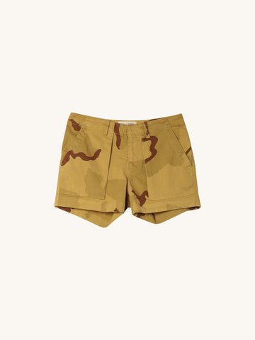 Utility Short in Gold Camo