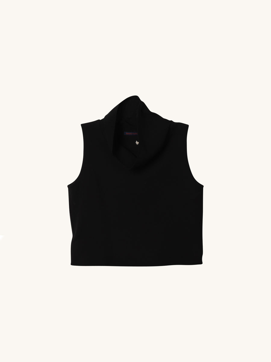 Cropped Turtleneck in Black