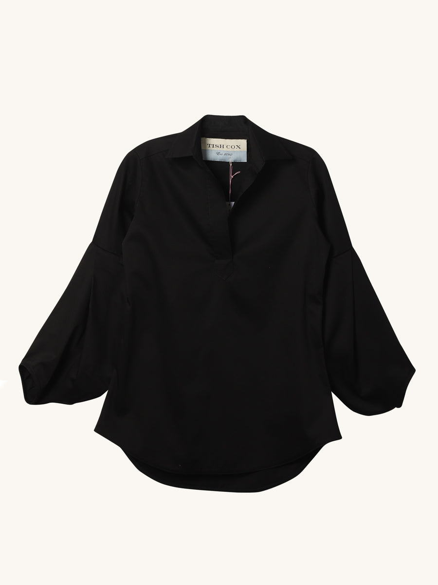 Cotton Allison Top in Black