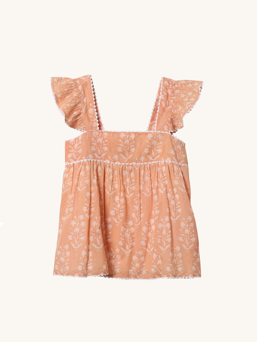 Baby Doll Top in Peach