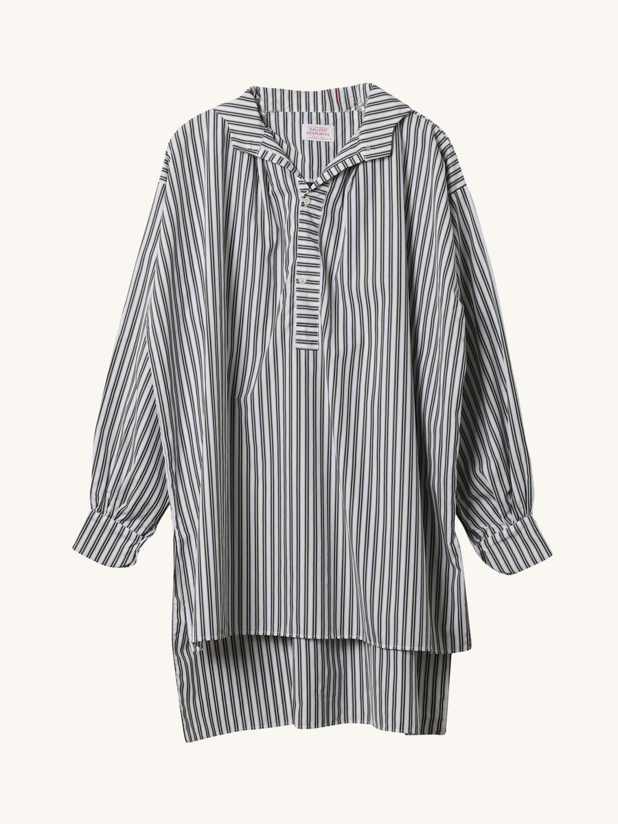 Navy & Green Stripe Cross Tunic