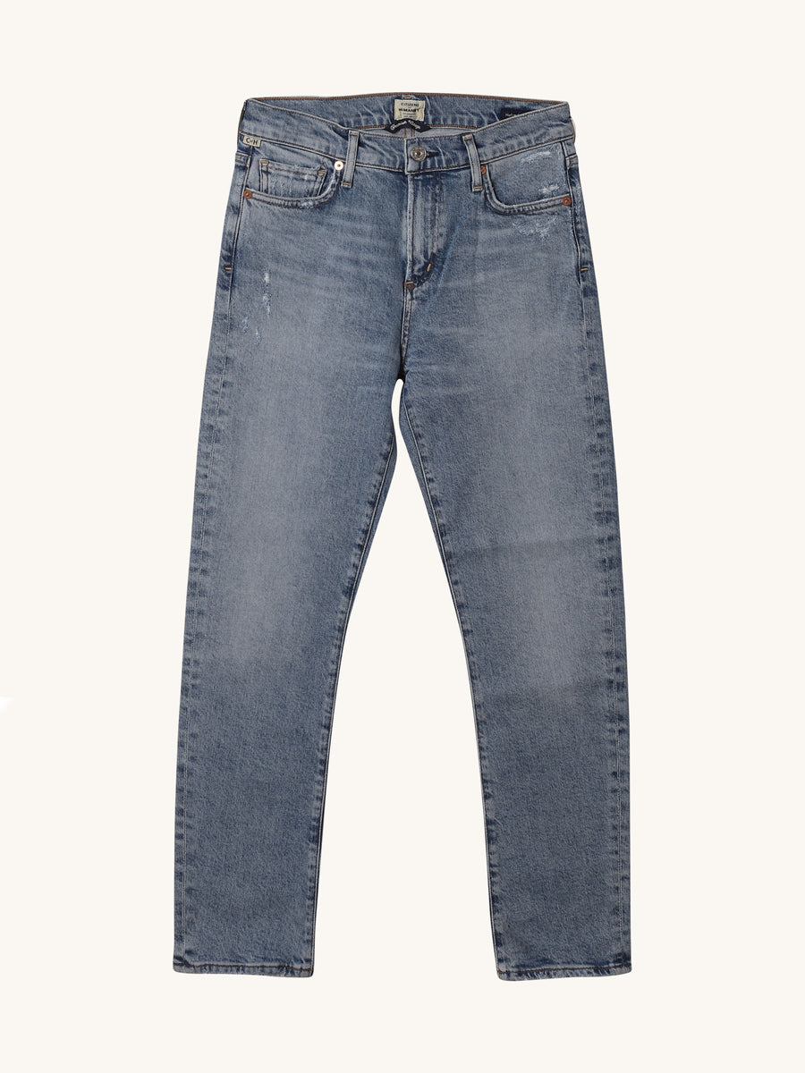 Medium Wash Harlow Ankle Midrise Slim Jean