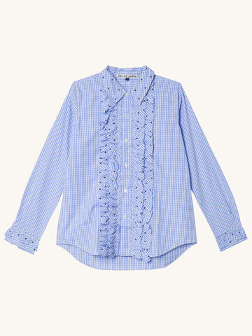 Cadussi Shirt with Blue Dots