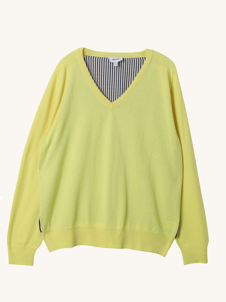 Stripe Pete Sweater in Yellow