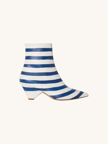 Ainchi Bootie in Blue Stripes