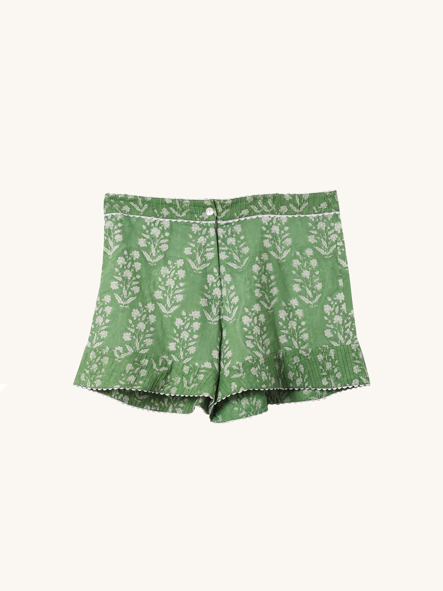 High Waisted Short in Green