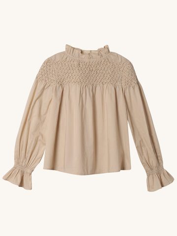 Majorelle Blouse in Beige