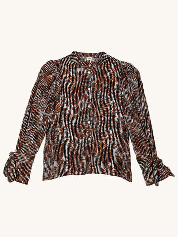 Francesca Blouse in Brown