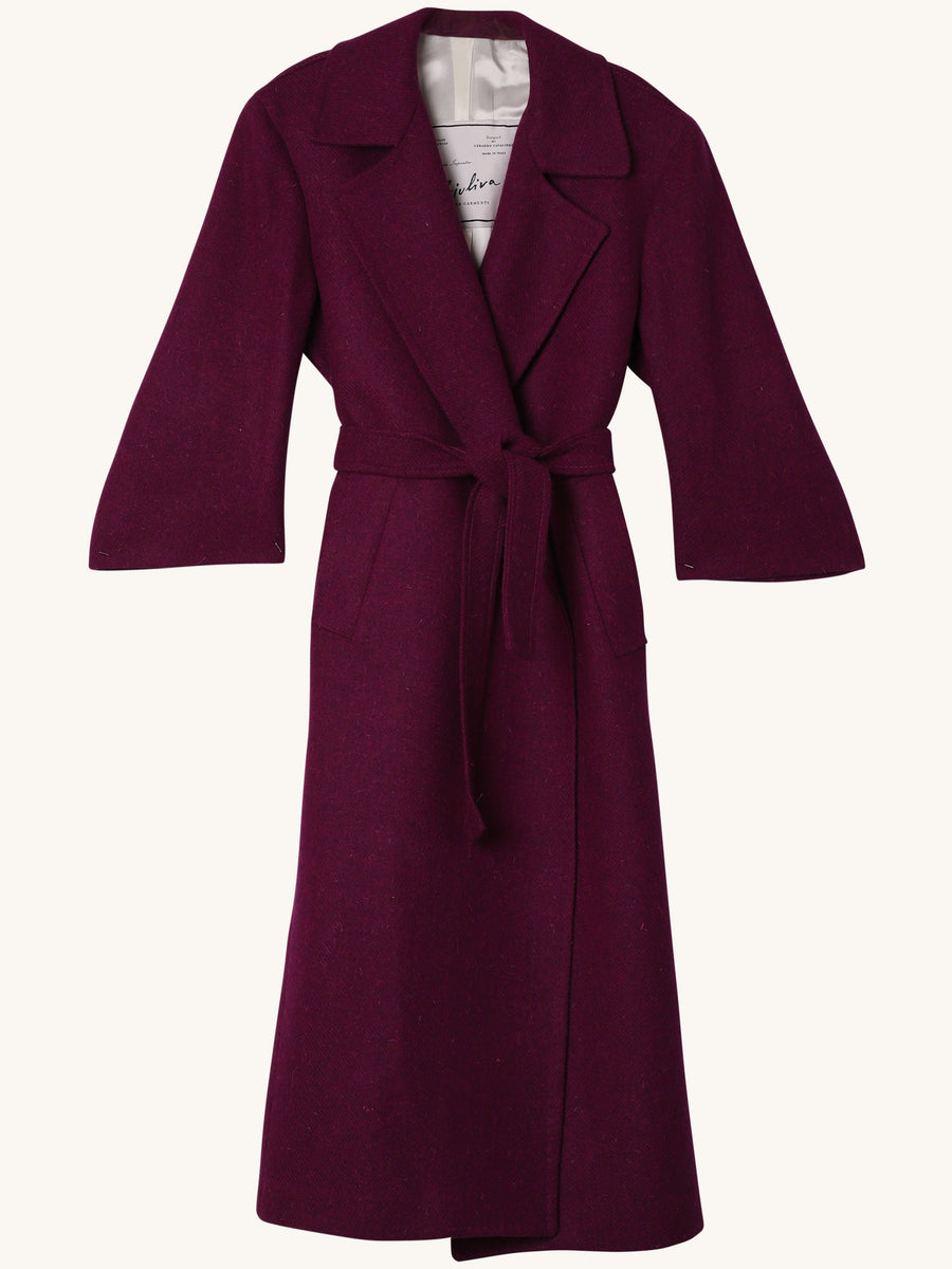 Linda Robe Coat in Purple