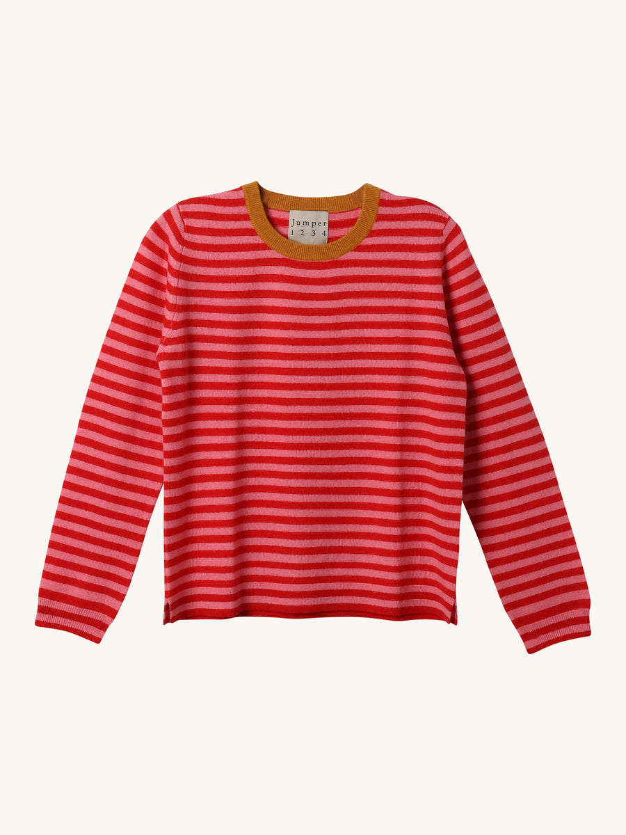 Stripe Crew Neck in Dijon
