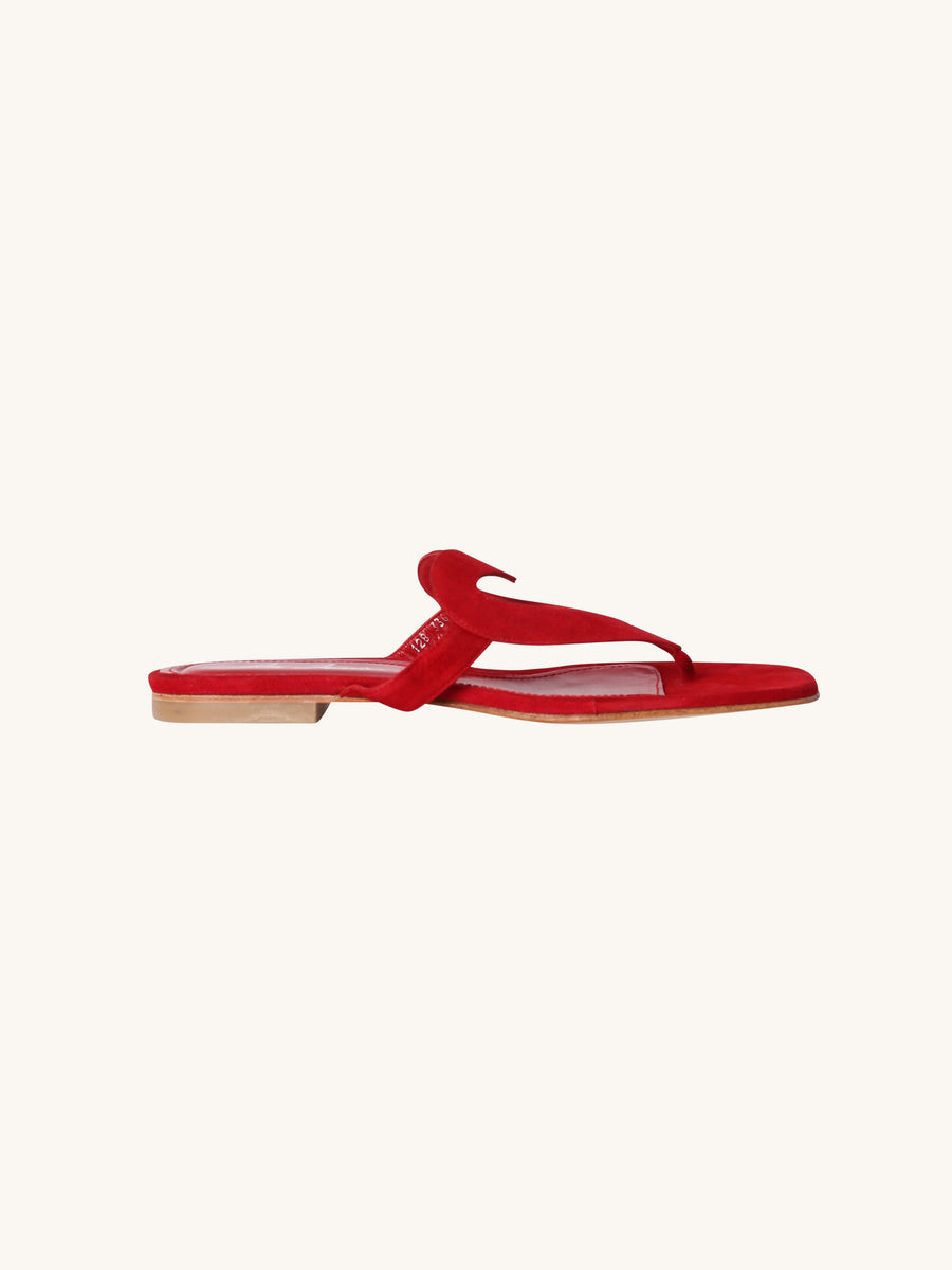 Te Amo Sandal in Red Suede