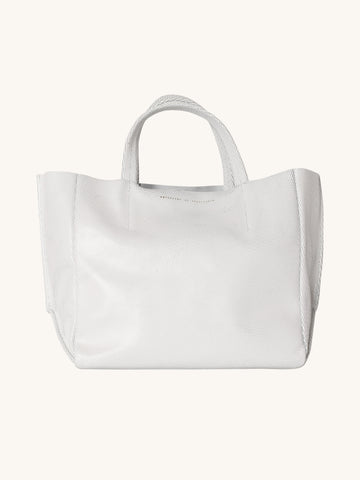 "Half Tote in ""Cat's Pajamas"" White"