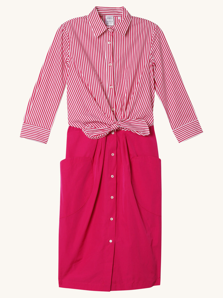 Paule Dress in Pink Stripe