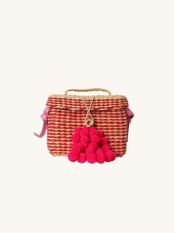 Small Roge Stripe Bag in Red