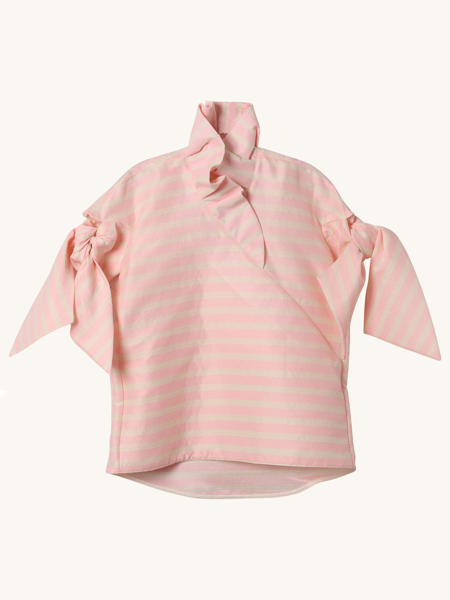 Lacy Top in Pink Stripe