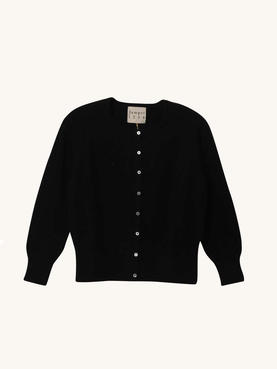 Shrunken Cardi in Black