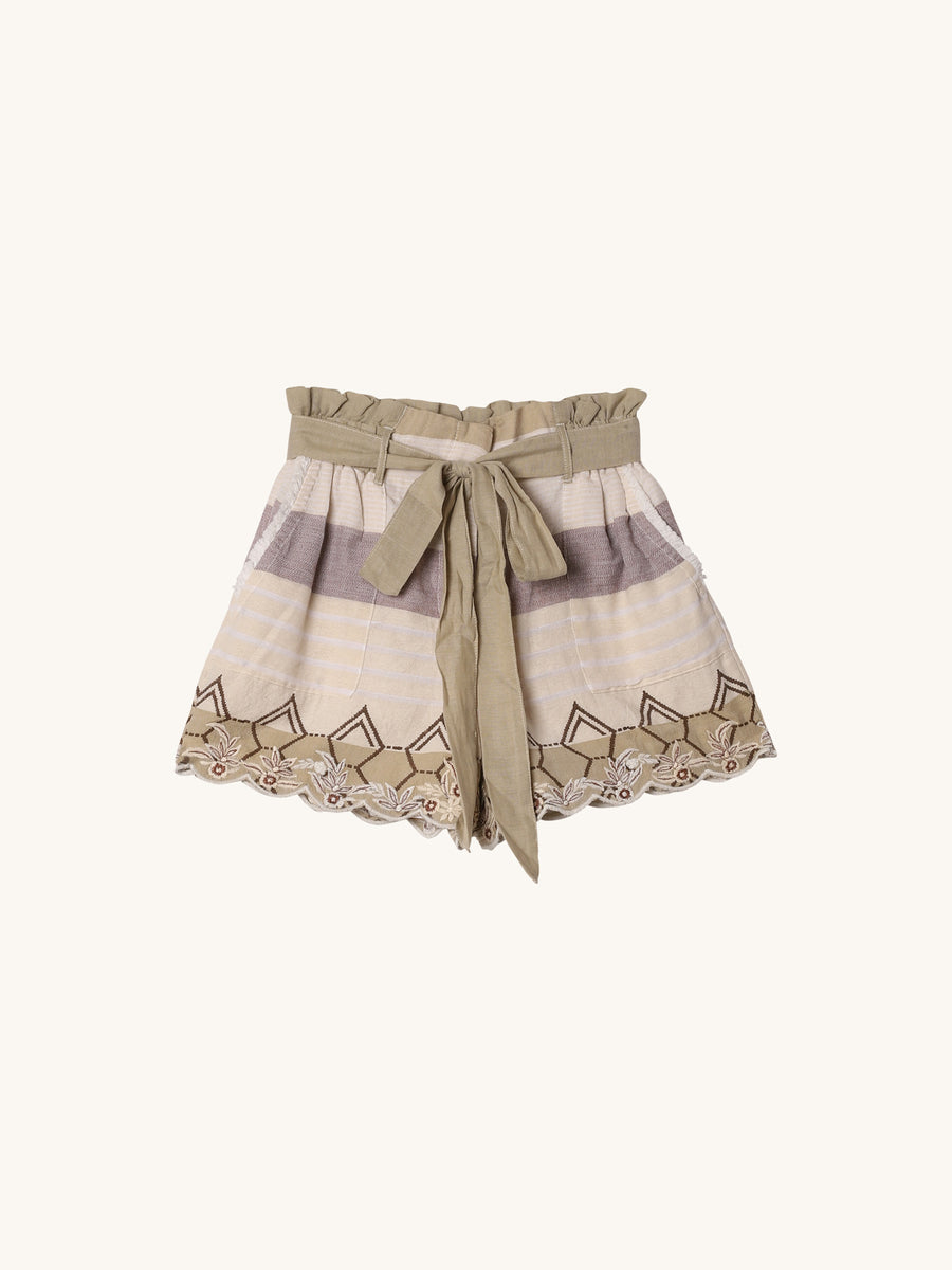 Printed Short in Beige