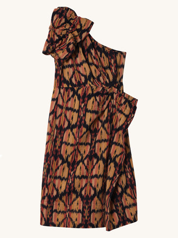 Ikat Print Idra Dress