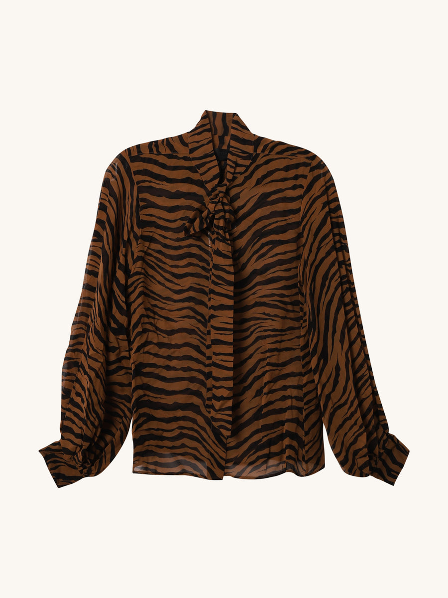 Monica Top in Bronze Tiger