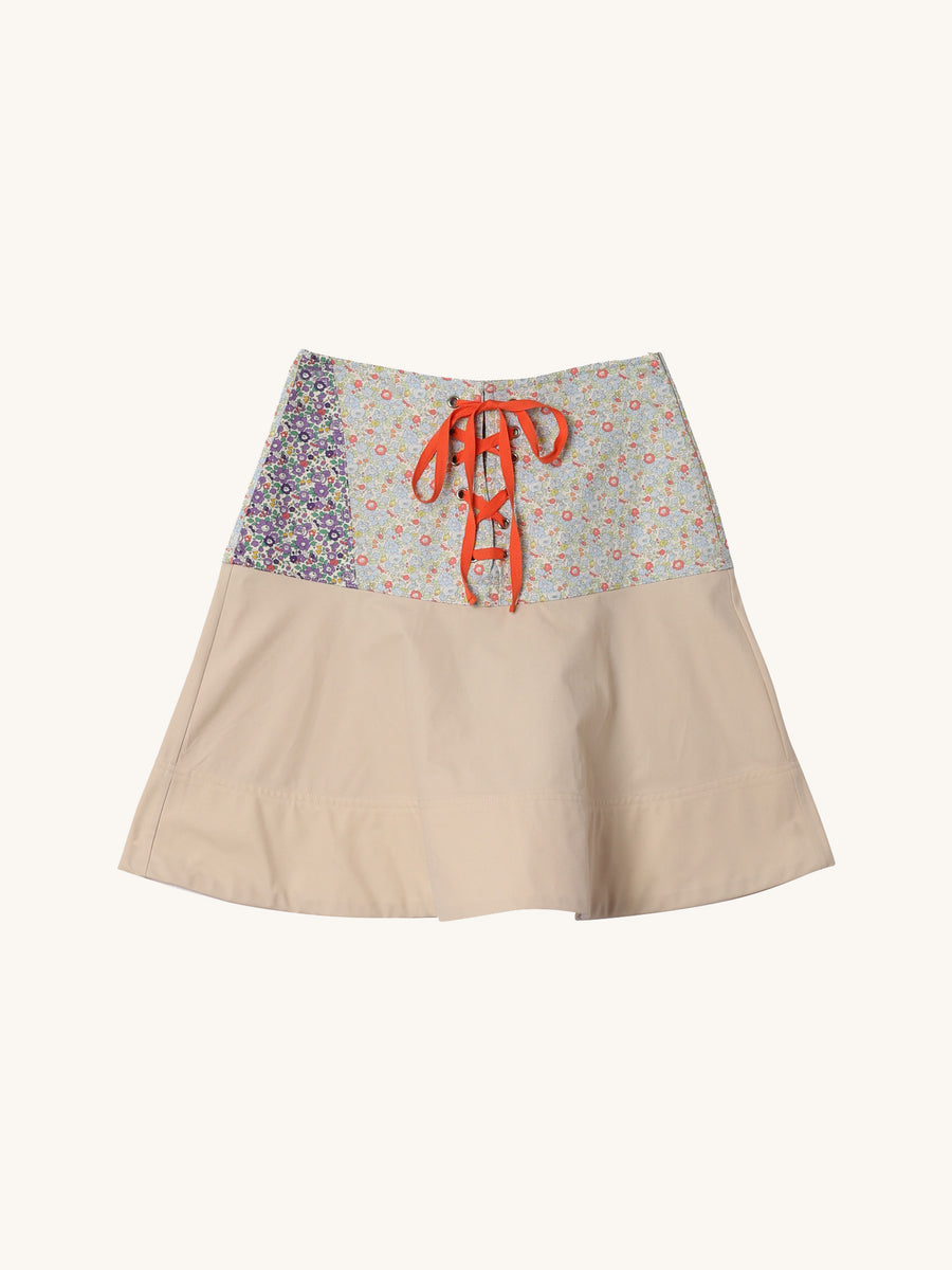 Jodpher Mini Skirt in Beige