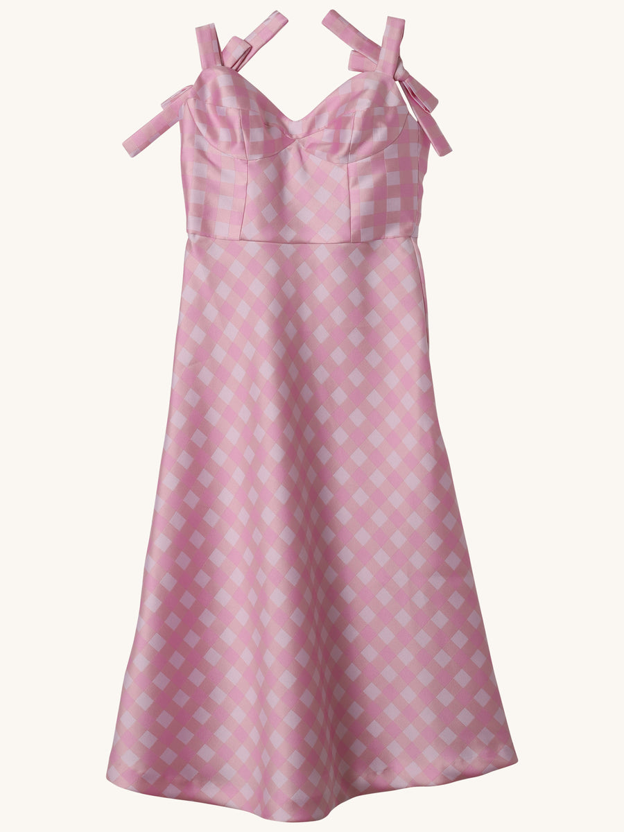 Gingham Easton Dress in Pink