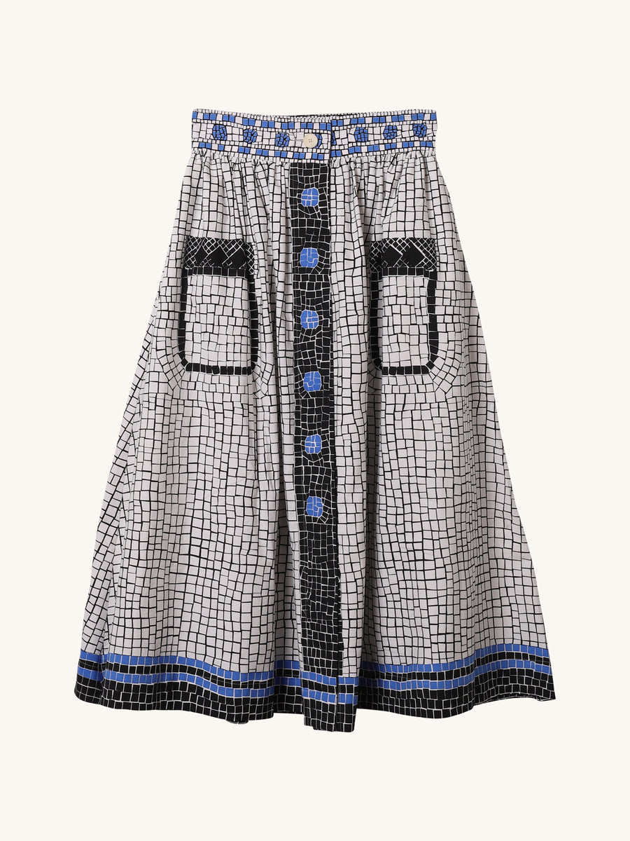 Mosaic Skirt in Blue