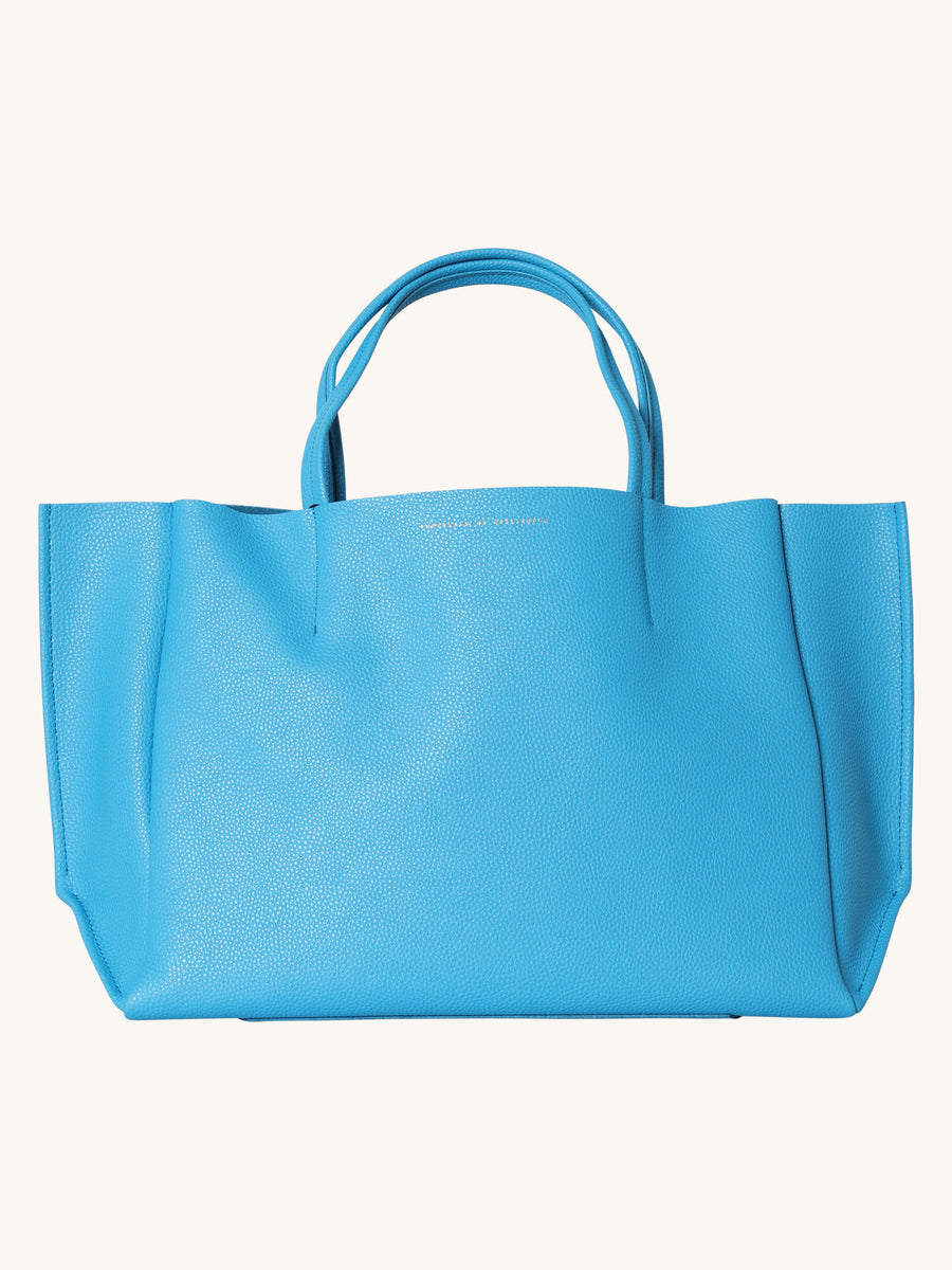 Sideways Tote in Cerulean Blue