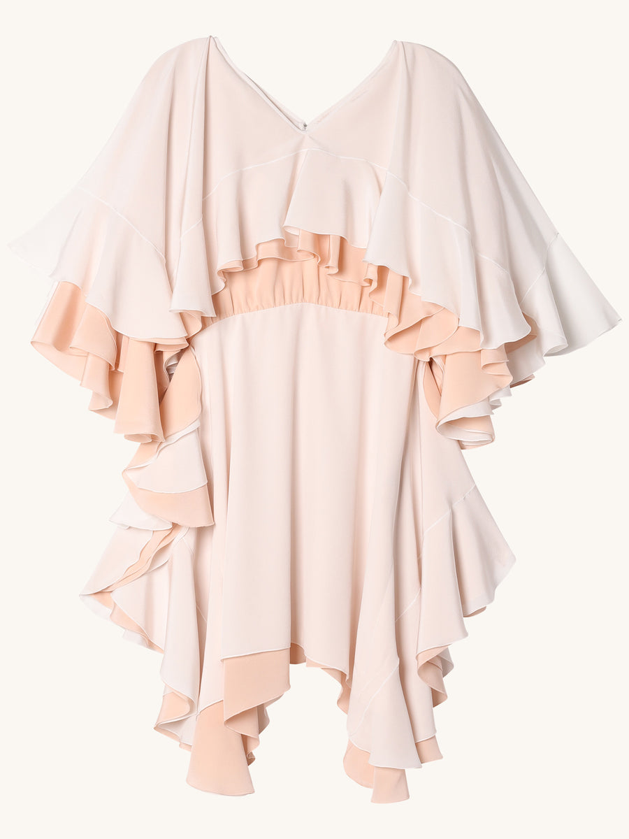 Niki Mini Dress in Blush & Ivory