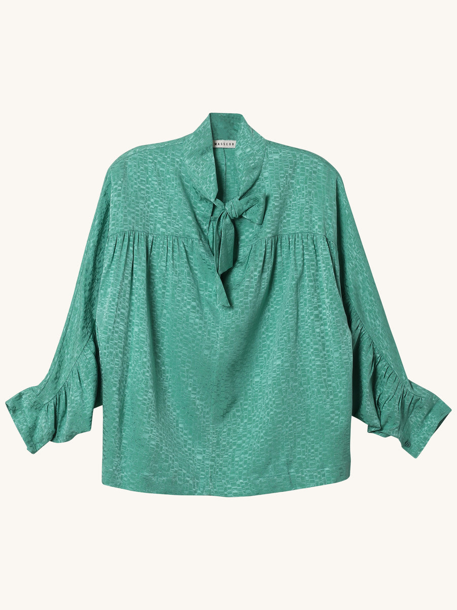 Claudette Blouse in Emerald