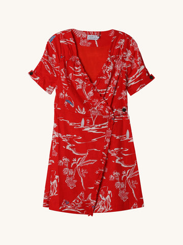 Toile Alda Dress in Red