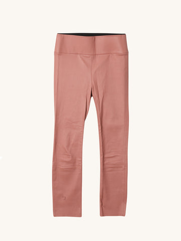 Cameo Pink 3/4 Capri Leather Legging